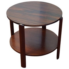 Art Deco Mahogany and Macassar Ebony Two-Tier Coffee Table in Great Condition