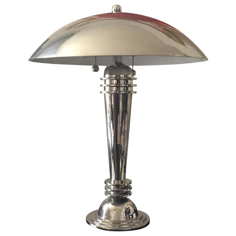 A Pair of Vintage Art Deco Table Lamps Original 1925 For Sale