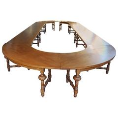 Extremely Large 20th Century Oakwood Conference Table