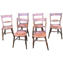 Elm Scroll Back Windsor Chairs, Set of Six