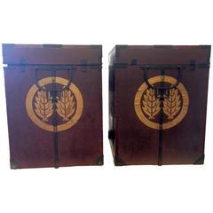 Pair of Samurai Armor Boxes