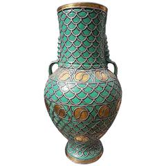 Large Turquoise Moroccan Urn