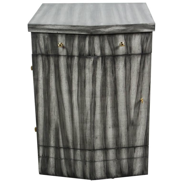 Paul Marra Pinnacle Nightstand in Gray Zebra Finish 1