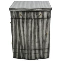 Paul Marra Pinnacle Nightstand in Gray Zebra Finish