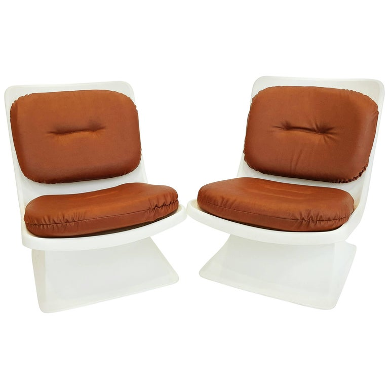 Albert Jacob Armchairs for Grosfillex, 1970s For Sale