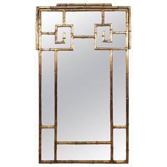La Barge Faux Bamboo Gilt Mirror