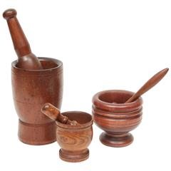 Wooden Mortar and Pestles