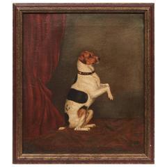 Dog Folk Art Painting