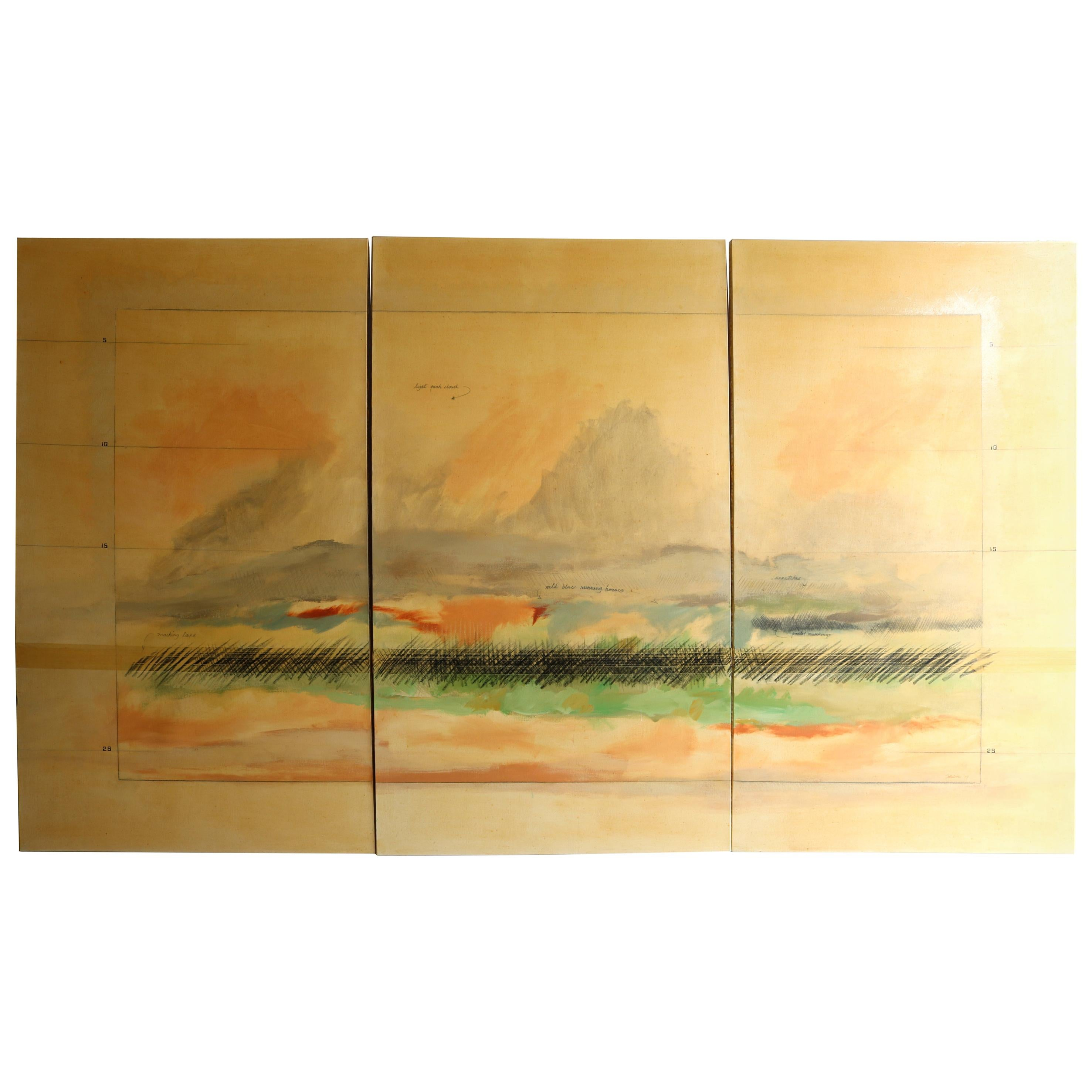 Oil on Canvas Triptych