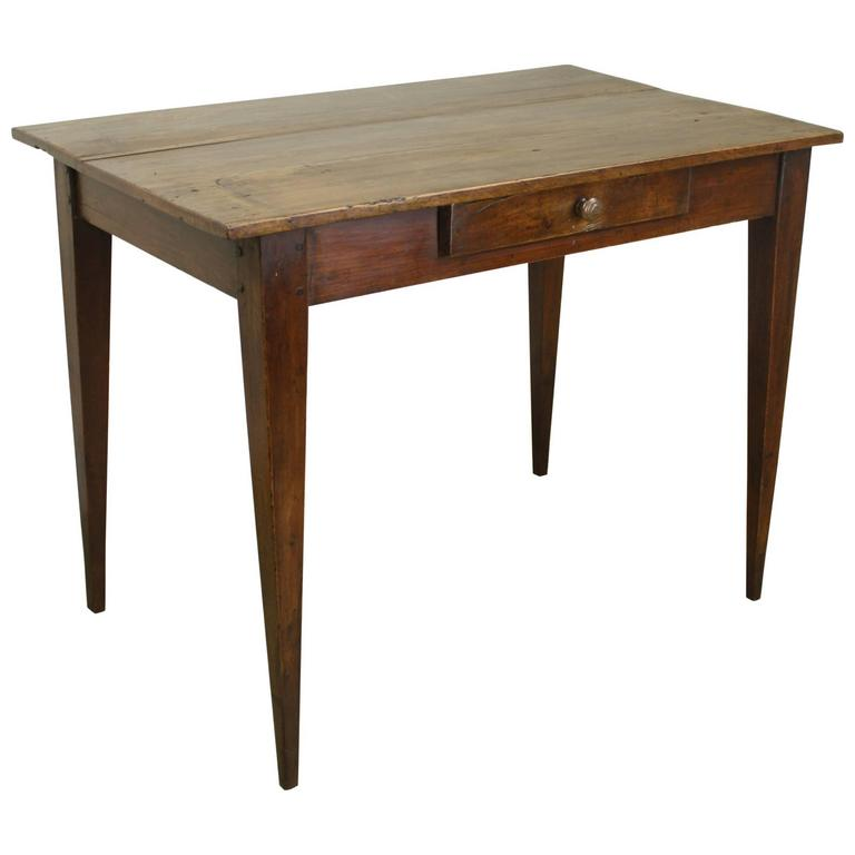 Antique French Cherry Side Table Or Small Desk For Sale At