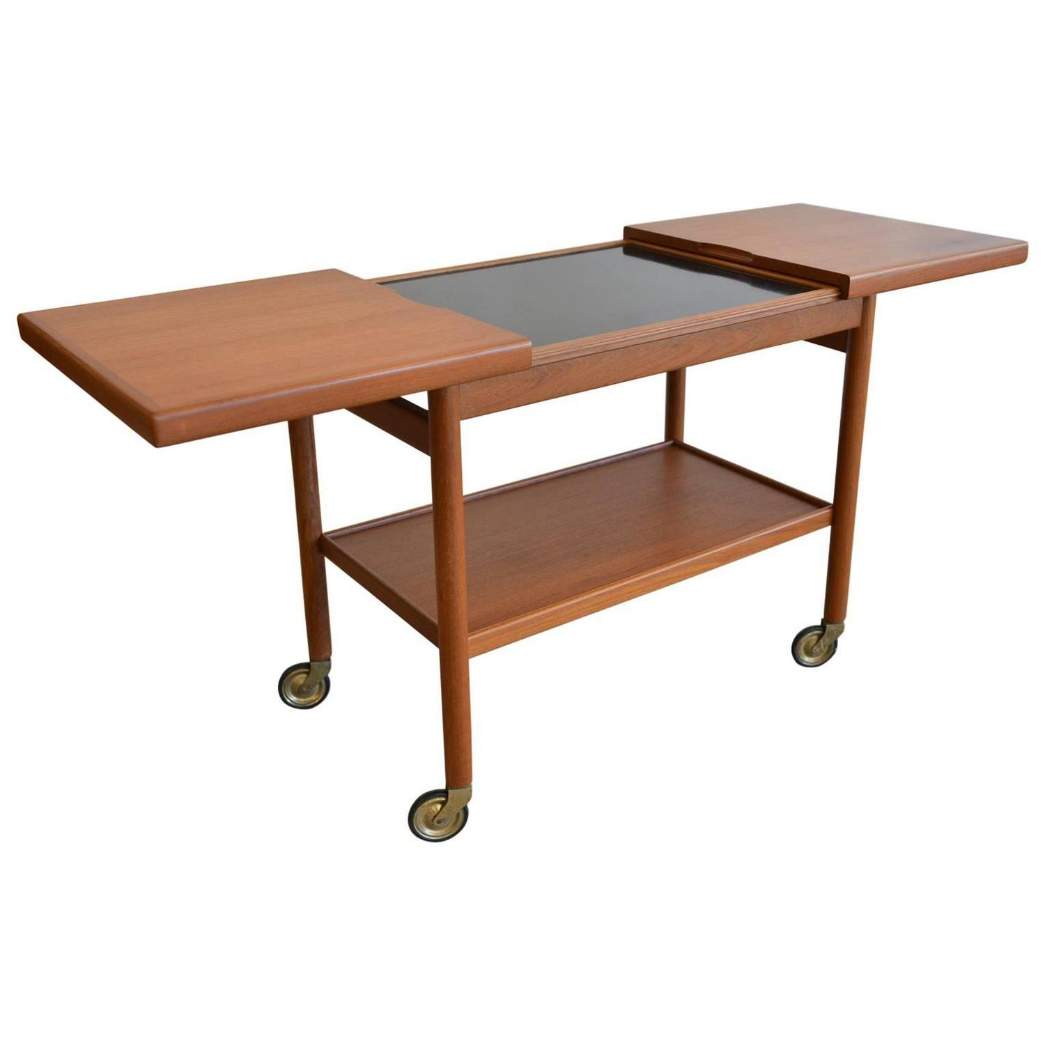 Sliding Top Serving Cart by Kurt Ostervig circa 1965 For Sale at