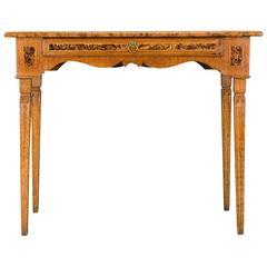 An Unusual Swedish Neoclassical Burlwood, Elm and Fruitwood Table