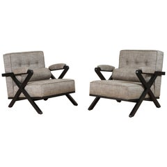 Pair of Dillon Chairs in Ebonized Oak by Lawson-Fenning