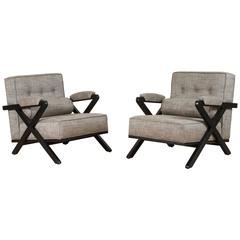 Pair of Dillon Chairs in Ebonized Oak by Lawson-Fenning