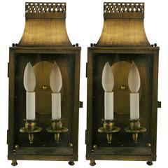 Pair of Pagoda Lantern Sconces