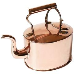Oval Copper Kitchen/Cooking Kettle, 19th Century