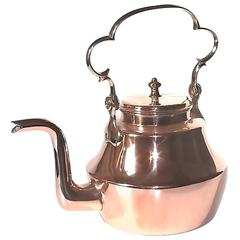 English Early Swing Handled Copper Kettle
