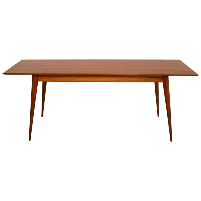 Retro walnut dining table vintage 1950s at 1stdibs for Retro dining table
