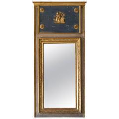 Antique French Trumeau Mirror, 1850