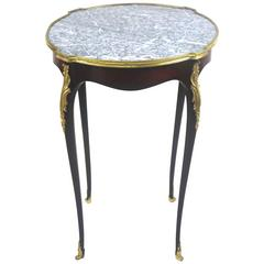Refined Louis XV Style Side Marble-Top Gueridon Table with Provenance