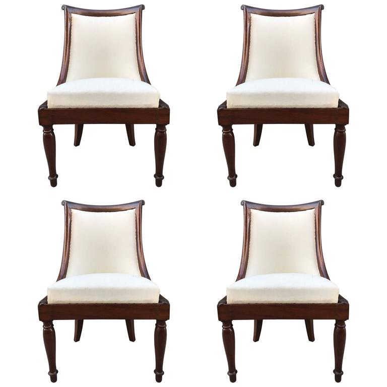 Set of Four Regency Style Mahogany Chairs