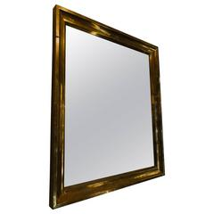 French Vintage Brass Framed Mirror