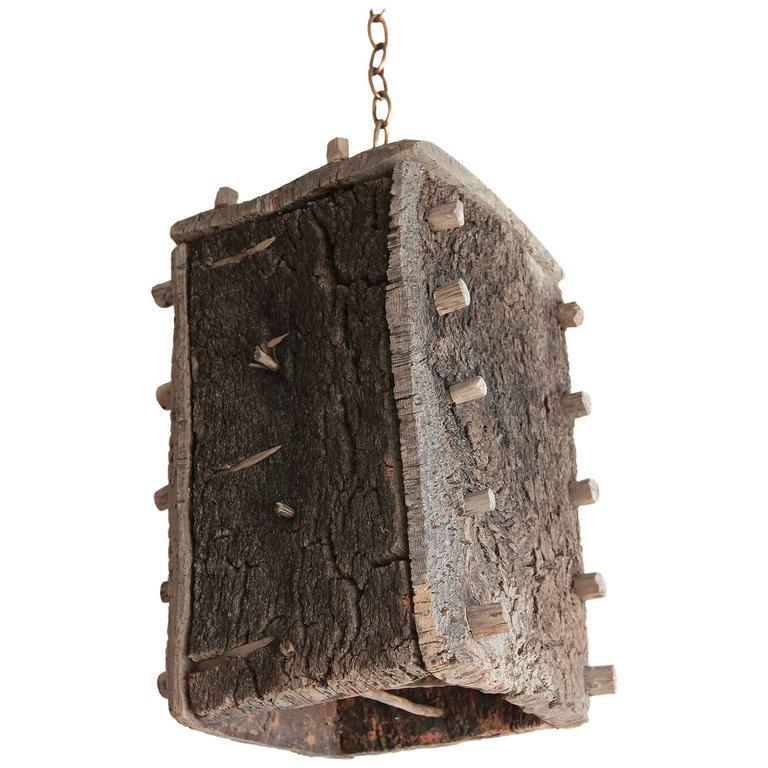Rustic Beehive Pendant