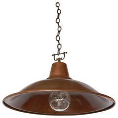 Rustic Italian Copper Pendant