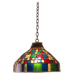 Colorful Stained Glass Pendant