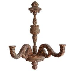 Rococo Style Wood Painted Candelabra Sconce