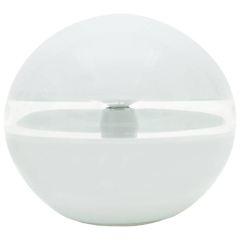Vistosi Glass Orb Table Lamp, 1970s