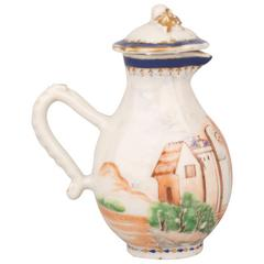 Chinese Export Porcelain Famille Rose Jug and Cover, 18th Century