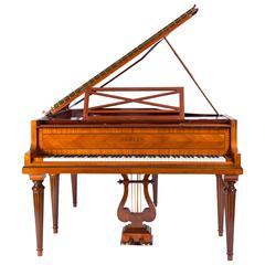 "Pleyel Grand Piano ""Gronkowski"" on Six Fluted Legs Richly Inlaid Shellack Finish"