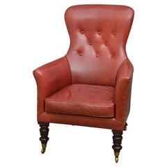 Fine Quality Early Victorian Library Armchair