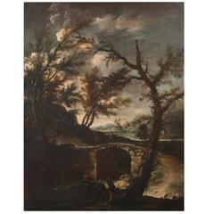 Pair of Late 17th Century Italian Paintings by Antonio Francesco Peruzzini