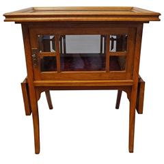 Early 20th Century Nutwood Art Deco Tea or Drinks Cabinet with Serving Tray