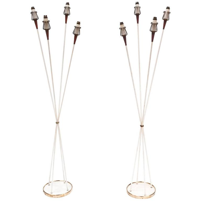 Pair of 1950s Floorlamps by Maison Lunel 1