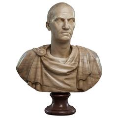 Marble Bust Depicting a Roman Emperor, 19th Century after Classical Period