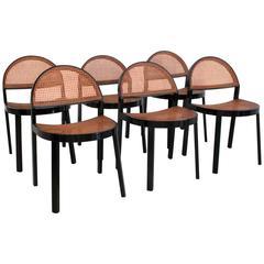 Set of Six Chairs by Jonathan De Pas & Donato D'urbino