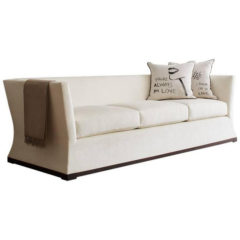 Contemporary Como Sofa, Custom and Made to Order by Dmitriy & Co.