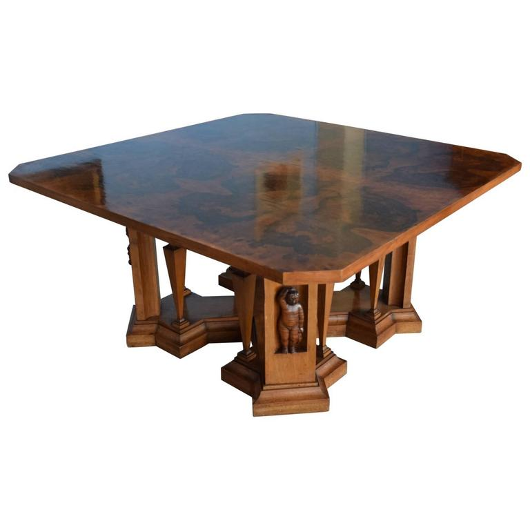 Italian Dining Room Table Six Chairs Cupboard Circa 1940s For Sale At 1stdibs