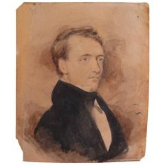 Miniature Gouache Portrait of a Gentleman