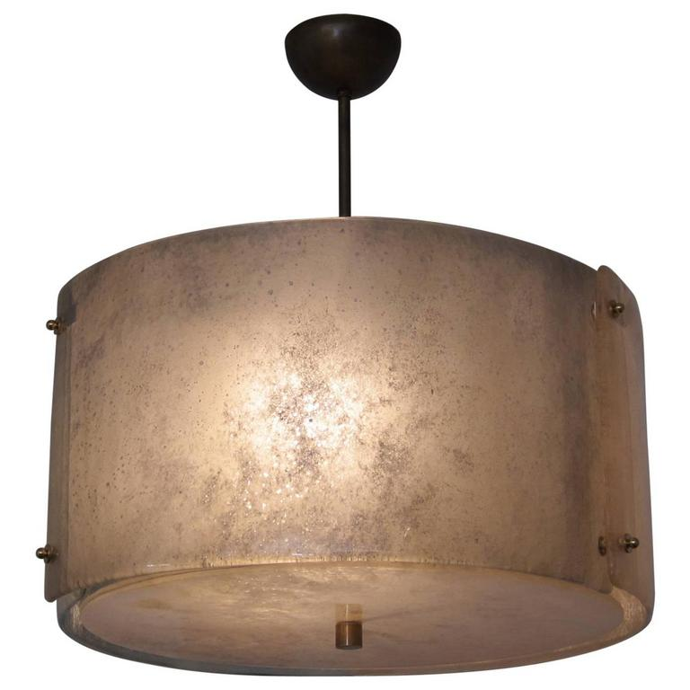 Modern Murano Glass Drum Chandelier For Sale at 1stdibs