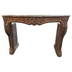 Antique Louis XIV Marble Mantel