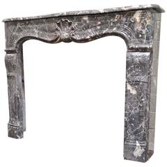 French Antique Marble Mantel