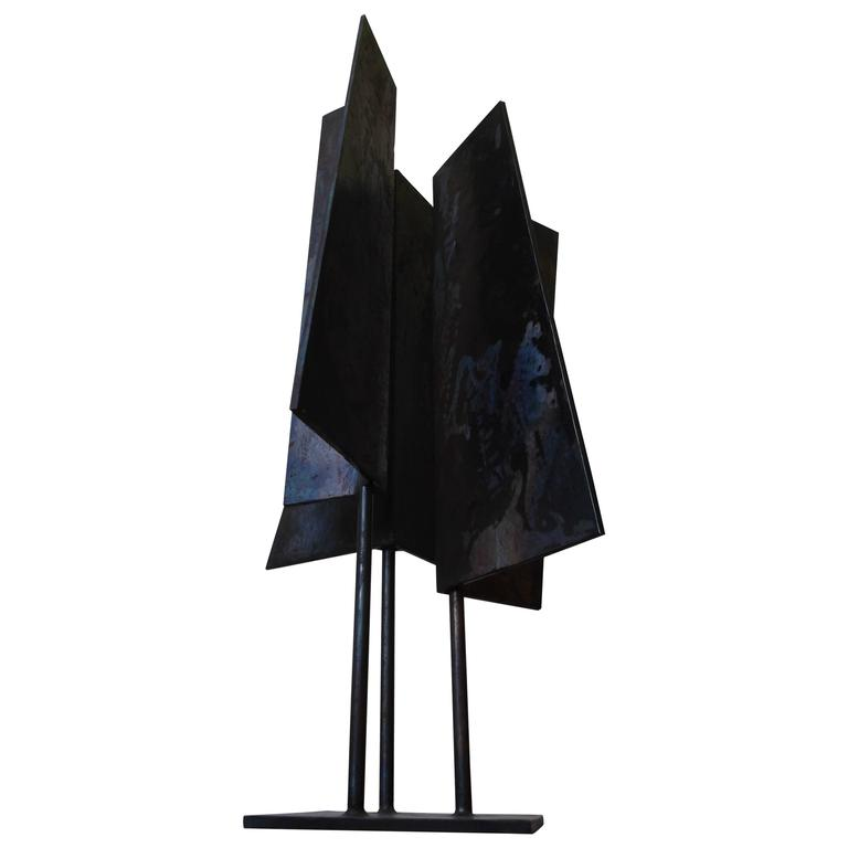 1963 Abstract Welded Steel Triad I Sculpture by J. Jay McVicker