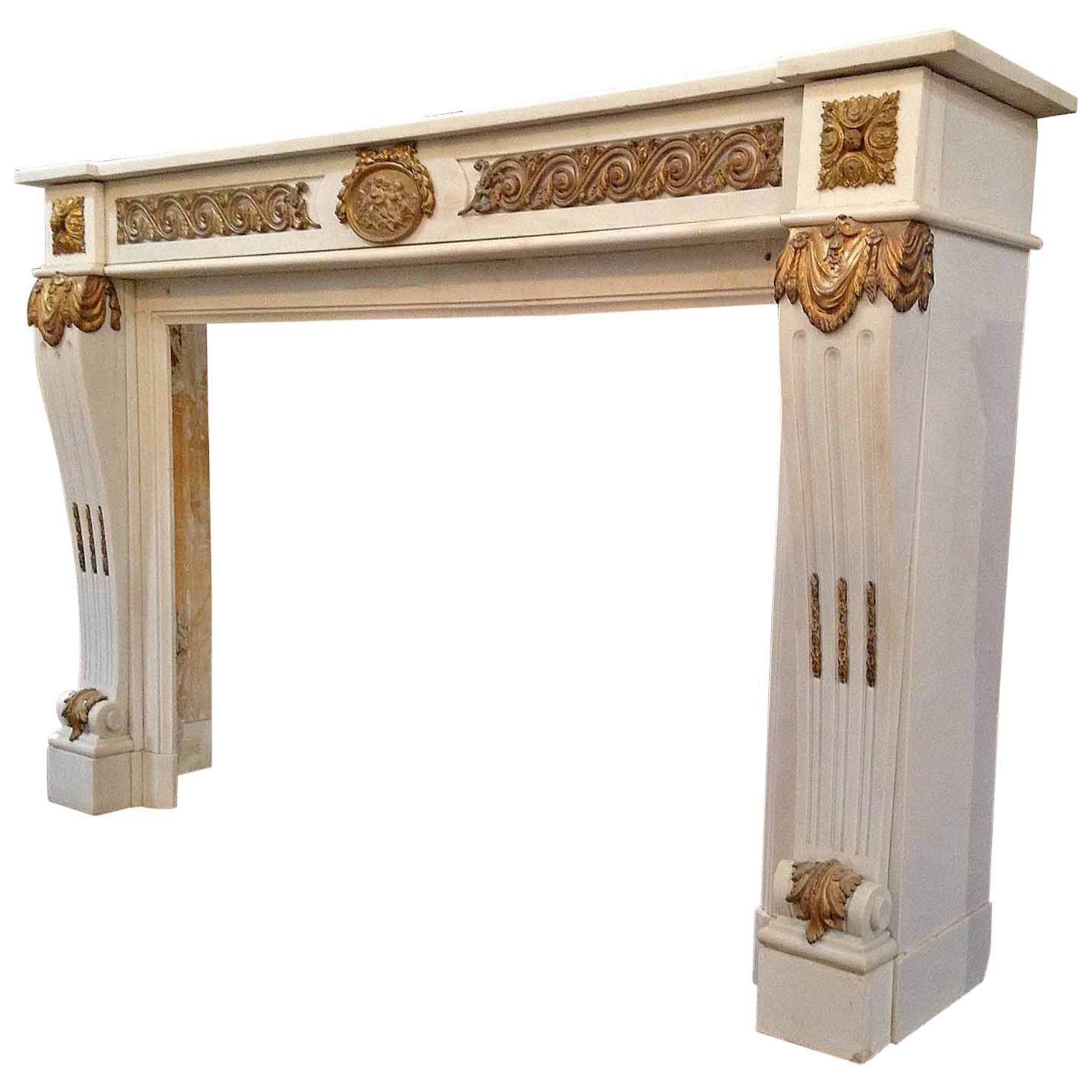French carrera marble mantel for sale at 1stdibs - Italian garden design ideas to make exquisite roman era garden ...