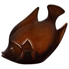 Rörstrand Stoneware Figure by Gunnar Nylund, Fish