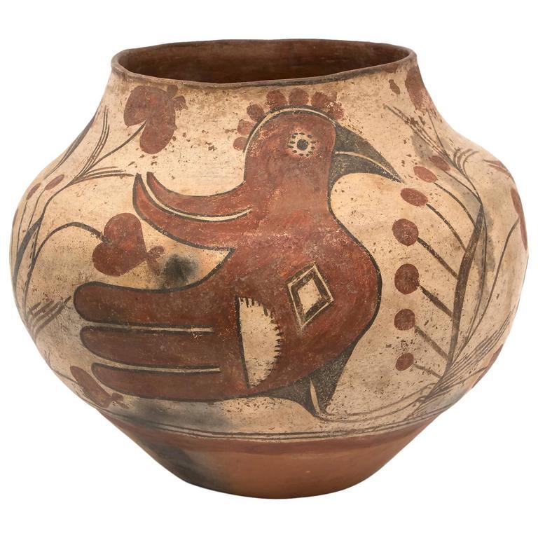 Native American Southwest Pottery Jar, Zia 'Pueblo', circa 1880