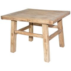 Rustic Teak Indoor or Outdoor Coffee or Side Table